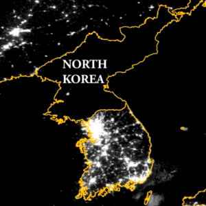 Deep dive on north korea the public diplomacy council north korea seen from space at night photo credit lund university research magazine gumiabroncs Choice Image