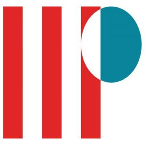 Red and blue logo spelling out I-I-P