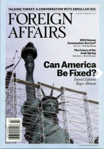 Foreign Affairs magazine cover Jan-Feb 2013