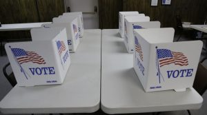 Voting booths on a table top