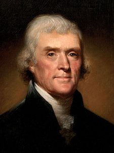 Official White house portrait of Thomas Jefferson