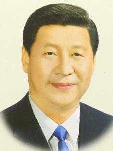 portrait of Chinese President Xi