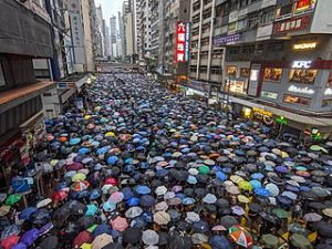 Street protest in Hong Kong