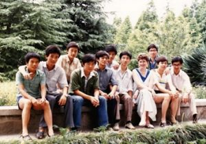 Kathleen Sheehan with Chinese university students