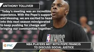 Picture of Anthony Tolliver with quote