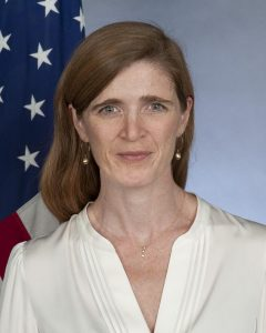official portrait of Samantha Power