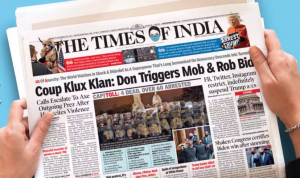 photo of times of india front page