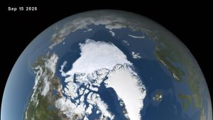 satellite image of arctic circle