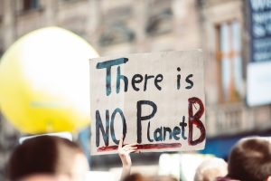 "protest sign ""There Is No Planet B"""